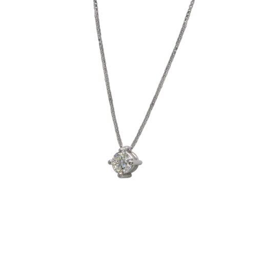 Collana Davite&Delucchi in Oro Bianco con Diamante - CLNS0846440