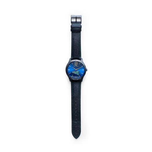 Orologio Isola Bella in Acciaio e Pelle   Mini Sicilia Blu - 40000030