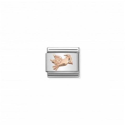 Charm Nomination in Acciaio e Oro Rosa - Composable - 430106/17