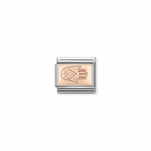 Charm Nomination in Acciaio e Oro Rosa - Composable - 430110/04