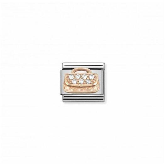 Charm Nomination in Acciaio e Oro Rosa - Composable - 430302/31