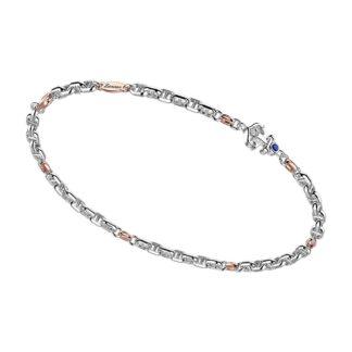 Bracciale Zancan in Oro Bianco e Rosa con Zaffiro - Insignia Gold - EB899BR-ZB