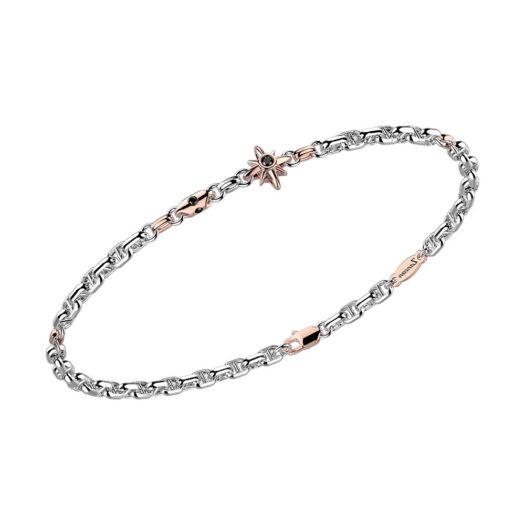 Bracciale Zancan in Oro Bianco e Rosa con Diamanti - Eternity Gold - EB901BR