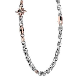 Collana Zancan in Oro Bianco e Rosa con Diamanti - Eternity Gold - EB901BR50