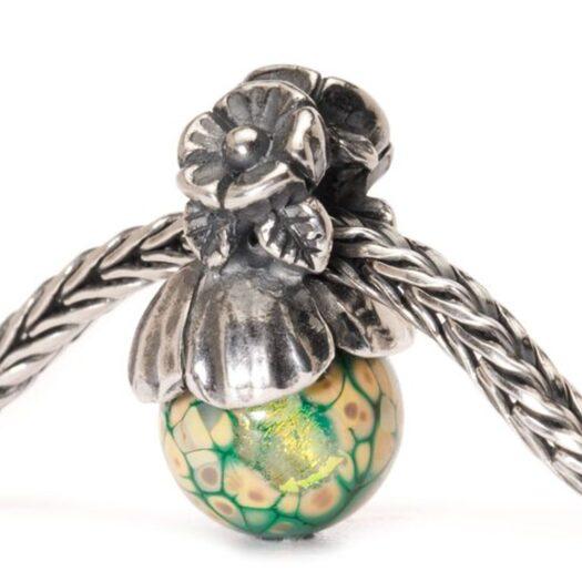 Beads Trollbeads in Argento e Vetro di Murano - Non ti Scordar Di Me - TAGBE-00106