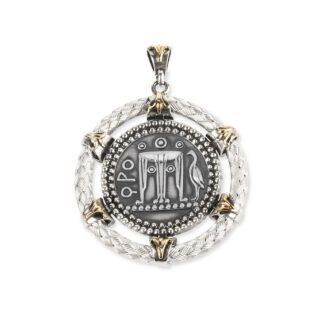 Ciondolo Gerardo Sacco in Argento e Oro | Moneta - Monete - 27862