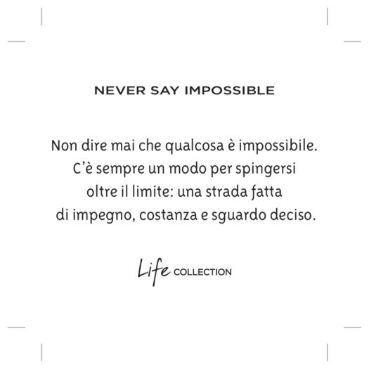 Bracciale Kidult in Acciaio e Pietre Never Say Impossible - Philosophy - 731780