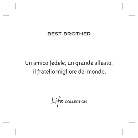 Bracciale Kidult in Acciaio Best Brother - Family - 731790