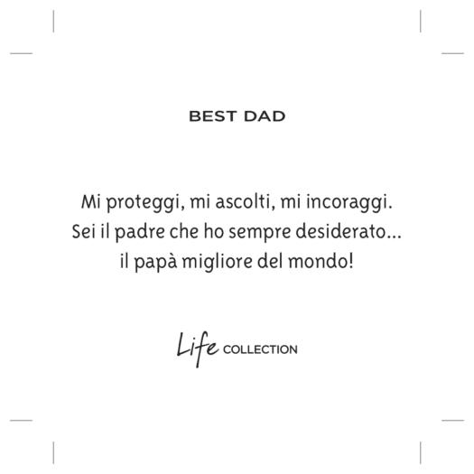 Bracciale Kidult in Acciaio Best Dad - Family - 731792