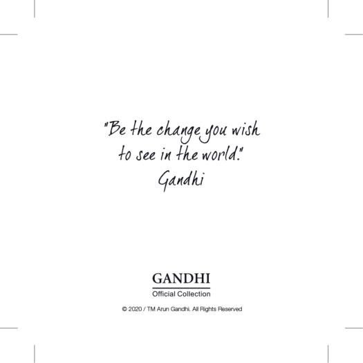 Bracciale Kidult in Acciaio Be The Change  Gandhi - Philosophy - 731884