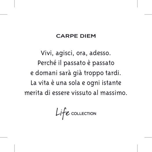 Collana Kidult in Acciaio  Carpe Diem - Philosophy - 751194