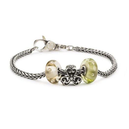 Beads Trollbeads in Argento - Trifoglio Portafortuna - TAGBE-20232