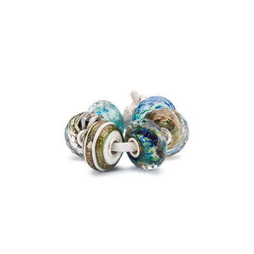 Set Beads Trollbeads in Argento e Vetro - Essenza della Vita - TGLBE-00201