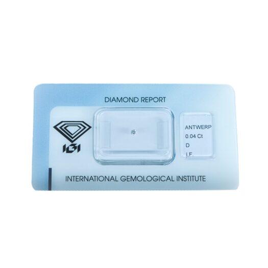 Diamante Blisterato Certificato IGI da 0.04 Carati - 279769193