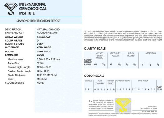Diamante Blisterato Certificato IGI da 0.19 Carati - 337850185