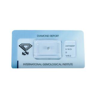 Diamante Blisterato Certificato IGI da 0.19 Carati - 345840014
