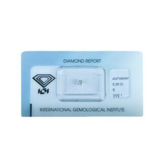 Diamante Blisterato Certificato IGI da 0.20 Carati - 345840456