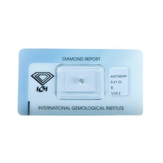 Diamante Blisterato Certificato IGI da 0.21 Carati - 345840461