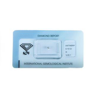 Diamante Blisterato Certificato IGI da 0.10 Carati - 395990359