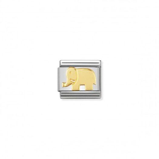Charm Nomination in Acciaio e Oro Giallo - Composable - 030112/08