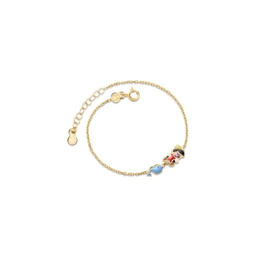 Bracciale Le Bebè in Oro Giallo e Smalto | Pinocchio e Balena - Primegioie - PMG097