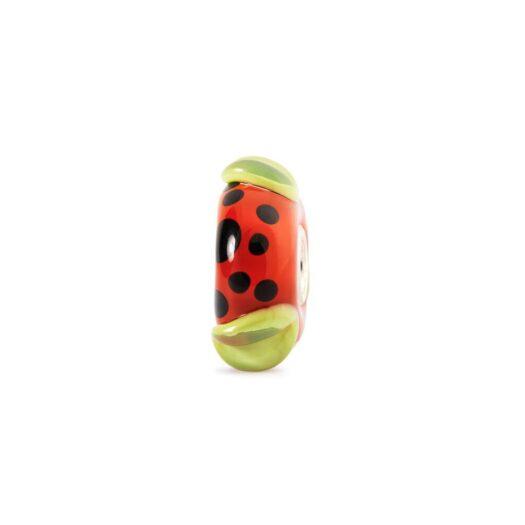 Beads Trollbeads in Argento e Vetro - Baccello Rosso - TGLBE-10163