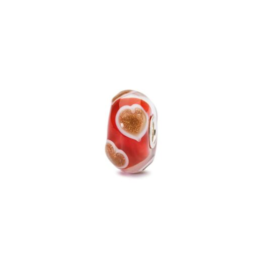 Beads Trollbeads in Argento e Vetro - Cuori Gioiosi - TGLBE-20093