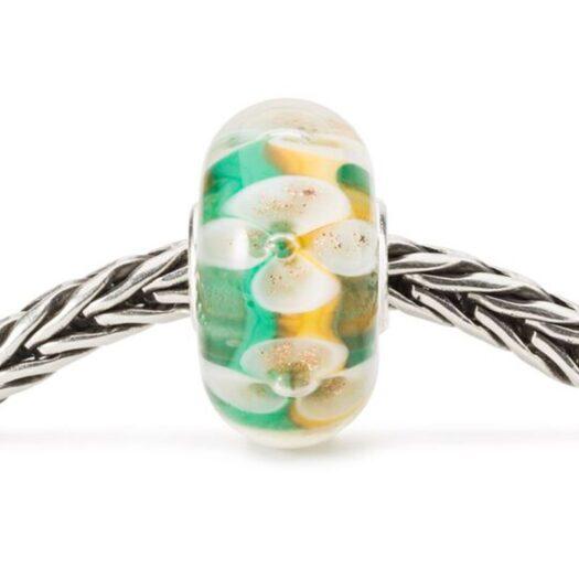Beads Trollbeads in Argento e Vetro - Bouquet Portafortuna - TGLBE-20103