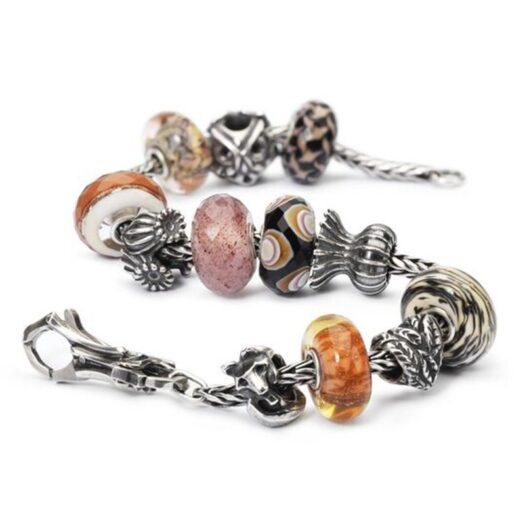 Beads Trollbeads in Argento e Vetro - Castagne - TGLBE-30022