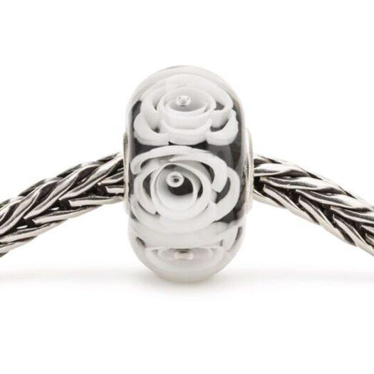 Beads Trollbeads in Argento e Vetro - Rosa Regina, Bianca - TGLBE-30044