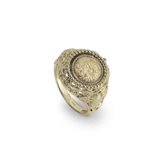 Anello Gerardo Sacco in Oro Giallo con Zaffiri Rosa   Aprile - Reverse Oro - 14286APR