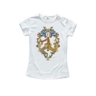 T-Shirt Isola Bella in Cotone con Strass - Tamburello - 20000909