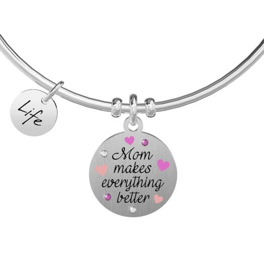 Bracciale Kidult in Acciaio Mom Makes Everything Better - Family - 731896