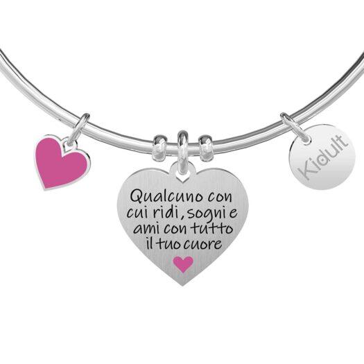 Bracciale Kidult in Acciaio Cuore Figlia - Family - 731897