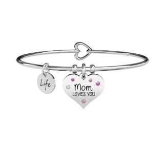 Bracciale Kidult in Acciaio Mom Loves You - Family - 731902
