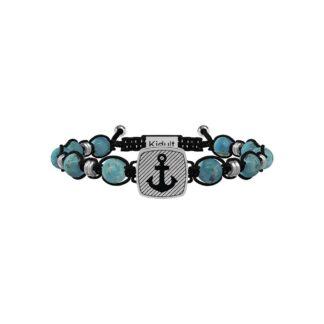 Bracciale Kidult in Acciaio e Pietre Ancora Stabilità - Symbols - 731913