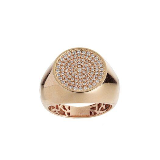 Anello Artlinea in Oro Rosa con Diamanti - Chevalier - AD822-DB-LR