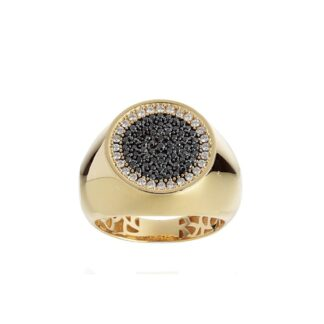 Anello Artlinea in Oro Giallo con Diamanti Bianchi e Neri - Chevalier - AD824-DN-LQ