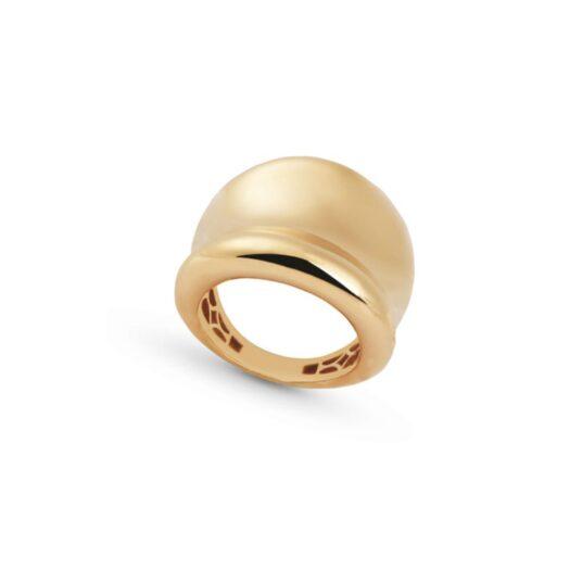 Anello Artlinea in Oro Giallo Fascia Incavata - Glam - AP003-LG