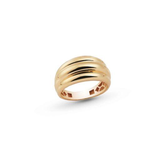 Anello Artlinea in Oro Giallo Fascia Ondulata - Glam - AP005-LG