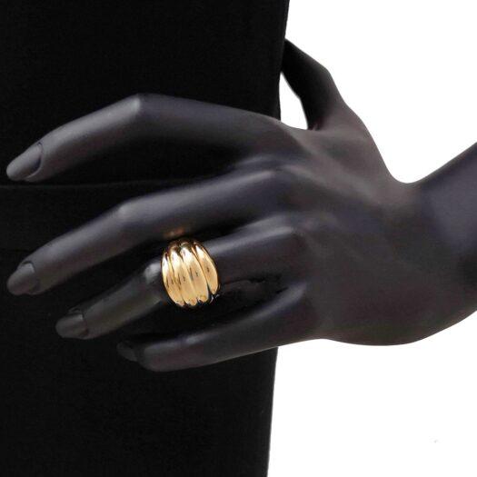 Anello Artlinea in Oro Giallo Fascia Ondulata - Glam - AP007-LG