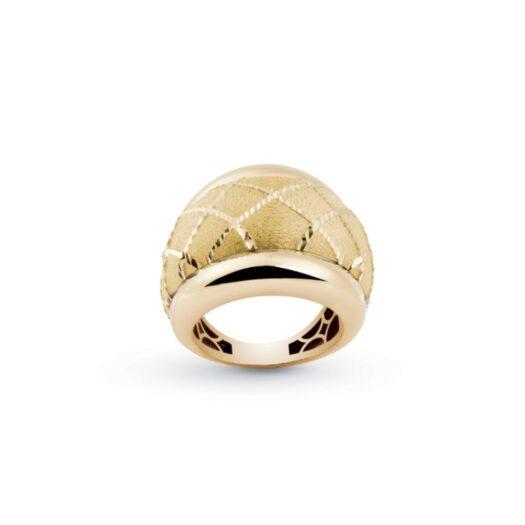Anello Artlinea in Oro Giallo Fascia Bombata - Glam - AP019-LG