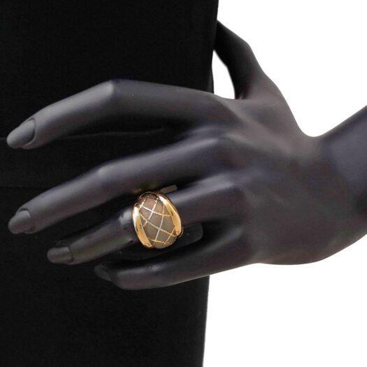 Anello Artlinea in Oro Giallo Fascia Bombata - Glam - AP019