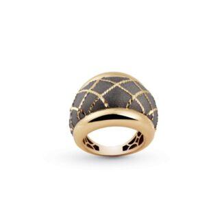 Anello Artlinea in Oro Giallo Fascia Bombata - Glam - AP019-LW