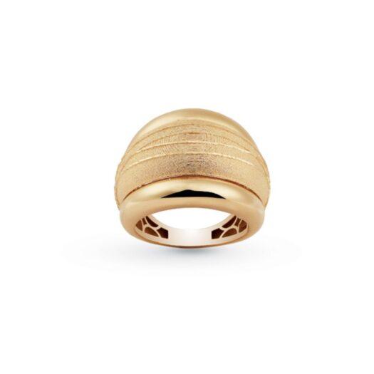 Anello Artlinea in Oro Giallo Fascia Satinata - Glam - AP023-LG