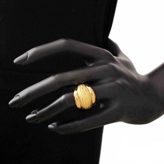 Anello Artlinea in Oro Giallo Fascia Brunita - Glam - AP023