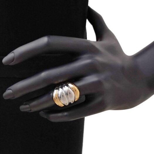 Anello Artlinea in Oro Giallo e Bianco Fascia Bicolore - Glam - AP028-LN