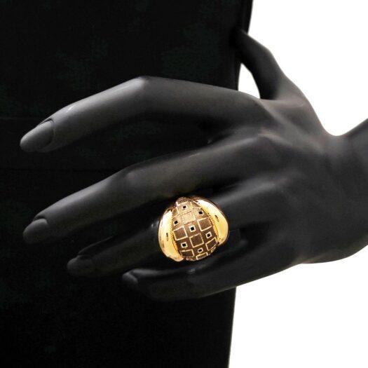 Anello Artlinea in Oro Giallo Fascia Geometrica - Glam - AP036