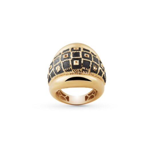Anello Artlinea in Oro Giallo Fascia Geometrica - Glam - AP036-LW