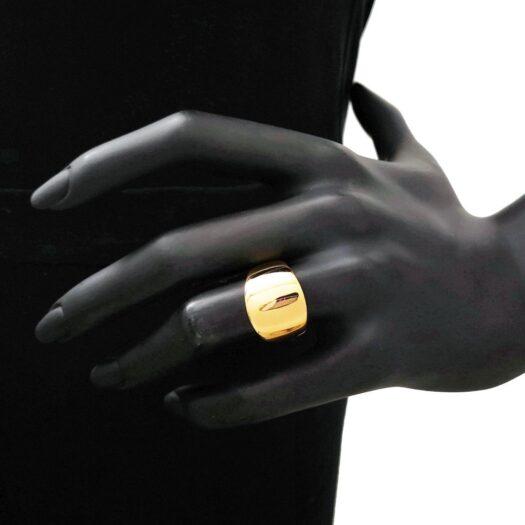 Anello Artlinea in Oro Giallo Fascia Larga - Glam - AP131-LG